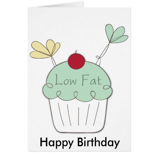 Low fat Happy Birthday cupcake card