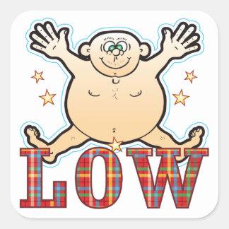 Low Fat Man Square Sticker