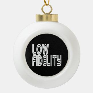 Low Fidelity Ceramic Ball Christmas Ornament