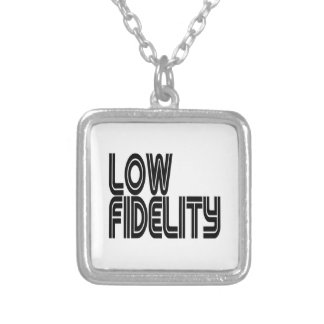 Low Fidelity Square Pendant Necklace