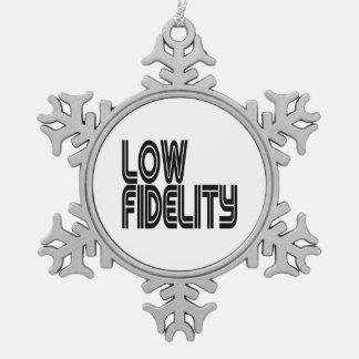 Low Fidelity Snowflake Pewter Christmas Ornament