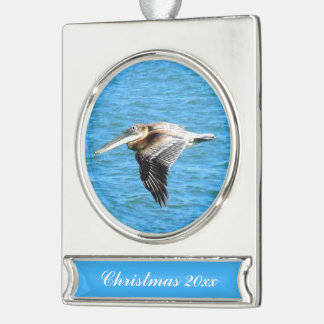 Low Flyer Silver Plated Banner Ornament