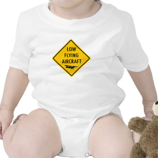 Low Flying Aircraft - Traffic Sign T-shirt