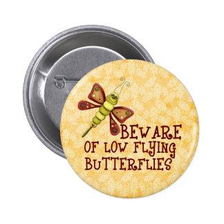 Low Flying Butterflies Pinback Buttons