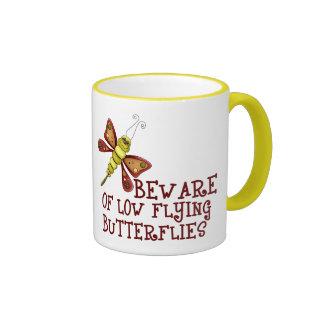 Low Flying Butterflies Ringer Mug