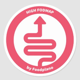 Low FODMAP Diet Sticker for High FODMAP Foods