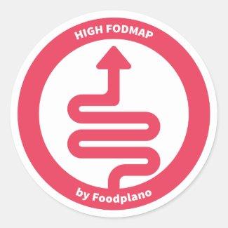 Low FODMAP Diet Sticker for High FODMAP Foods