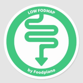 Low FODMAP Diet Sticker for low FODMAP foods