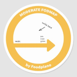 Low FODMAP diet sticker for moderate FODMAP foods
