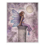 Low Hanging Moon Fantasy Fairy Poster