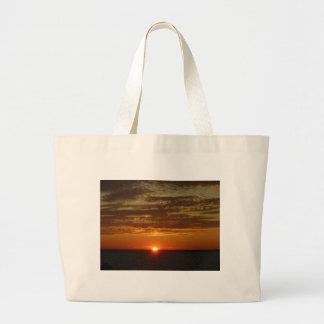 Low Horizon Sunset 2 Large Tote Bag