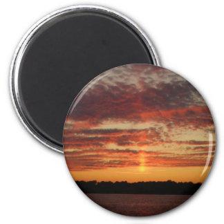 Low Horizon Sunset 3 2 Inch Round Magnet