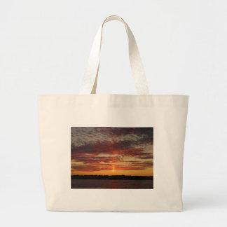 Low Horizon Sunset 3 Jumbo Tote Bag