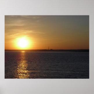 Low Horizon Sunset Poster