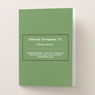 Low-Key Attorney-At-Law Pocket Folder