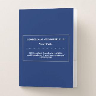Low-Key Notary Public Pocket Folder