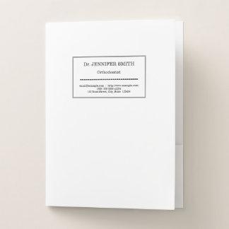 Low-Key & Professional Orthodontist Pocket Folder