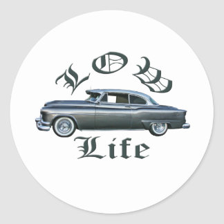 low life lowrider 50's Oldsmobile custom Classic Round Sticker