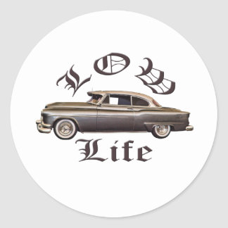 Low Life Oldsmobile Lowrider Classic Round Sticker