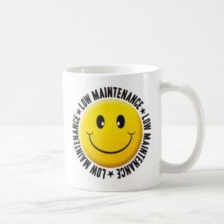 Low Maintenance Smiley Coffee Mug