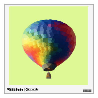 Low Poly Air Balloon Wall Sticker