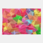 low poly background abstract pattern bright colors hand towels