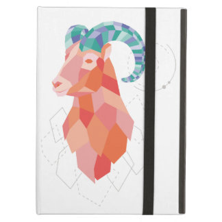 Low Poly Big Horned Sheep Case For iPad Air