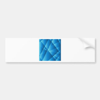 Low Poly Blue Abstract Background Car Bumper Sticker