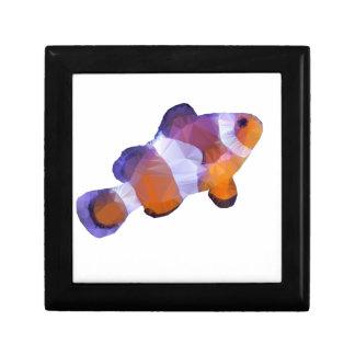 Low Poly Clown Fish Jewelry Box