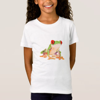 Low poly design Frog red-eyed tree T-Shirt