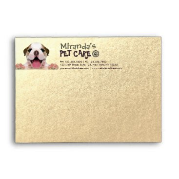 Low Poly Dog Pet Care Grooming Bathing Food Salon Envelope
