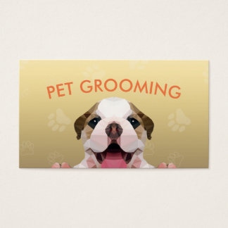 Low Poly Dog Pet Care Grooming Food Beauty Salon Business Card