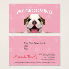 Low Poly Dog Pet Care Grooming Food Beauty Salon Business Card at Zazzle