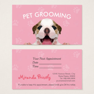 Dog grooming business cards templates zazzle low poly dog pet care grooming food beauty salon business card reheart Images