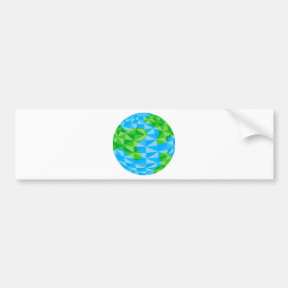 Low Poly Earth World Globe Icon Car Bumper Sticker