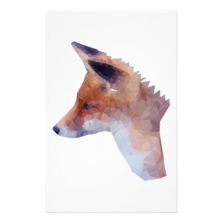 Low Poly Fox Stationery
