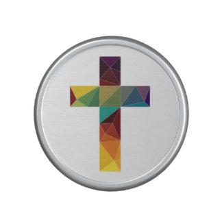 low poly god cross religion symbol polygon jesus speaker