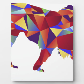 Low Poly Pattern Lion Icon Plaque