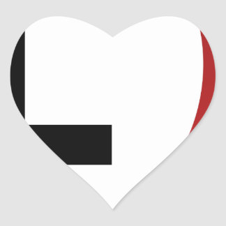 Low Pressure System Weather Icon Heart Sticker