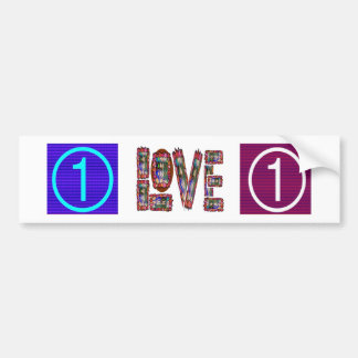 Low Price MOTIVATIONAL Tool  NUMBER ONE LOVE TXT Car Bumper Sticker
