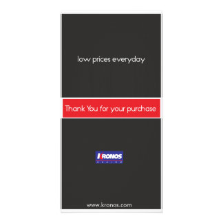 Low prices everyday thankyou card