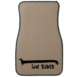 Low Rider Dachshund Floor Mat