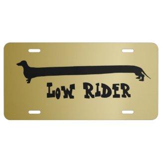 Low Rider Dachshund License Plate