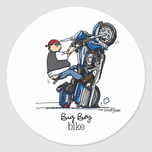 Low Rider Motorcycle Classic Round Sticker