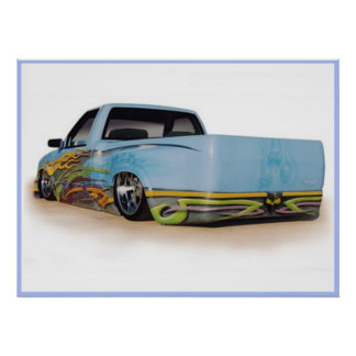 Low Rider Truck Poster