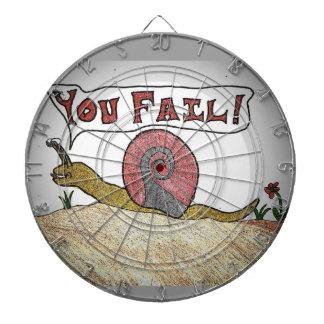 Low Score is a Fail Snail! Dart Boards