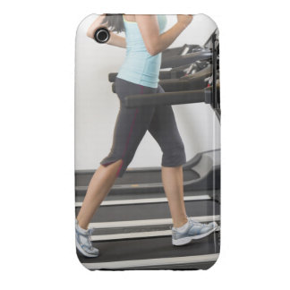 Low section of woman walking on treadmill iPhone 3 Case-Mate case
