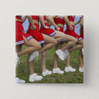 Low Section View of a Group of Cheerleaders Button