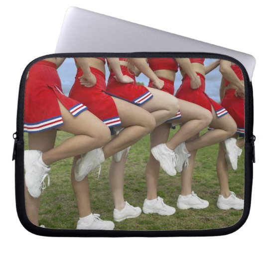Low Section View of a Group of Cheerleaders Computer Sleeve