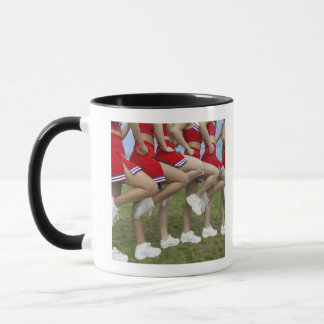 Low Section View of a Group of Cheerleaders Mug